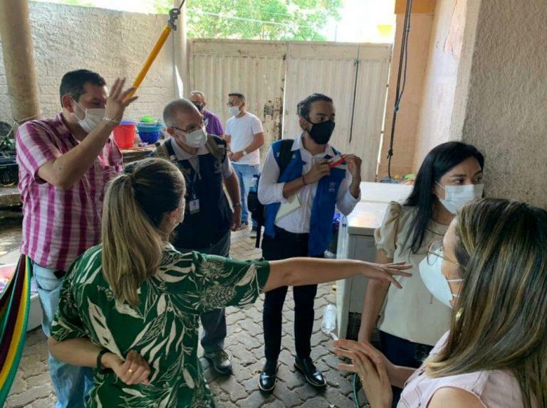 Treinamento com servidores dos abrigos para indígenas venezuelanos em Piauí